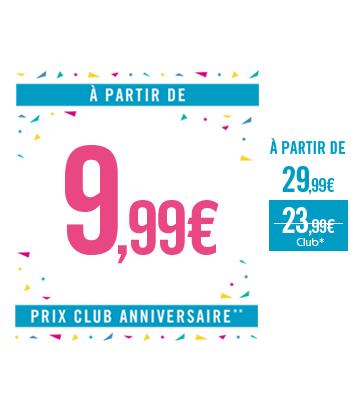 Turbulettes à partir de 9,99€ Prix Club