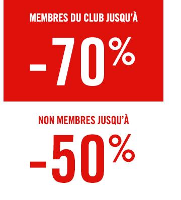 Club jusqu'à -70%